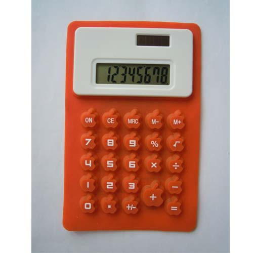 Solar power calculator with apple shape buttons   yagifts